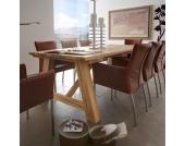 Massivholztisch aus Eiche 220 cm breit