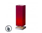 Tischleuchte Tower Touch Stahl mit Rot