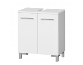 Waschbeckenunterschrank Gela - Weiß hochglanz/Weiß, Giessbach