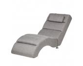 Relaxliege Califfo - Strukturstoff Grau, roomscape