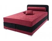 Maintal Boxspring-Bett, rot, 90/200 cm, Bonnell-Federkern H2, H2